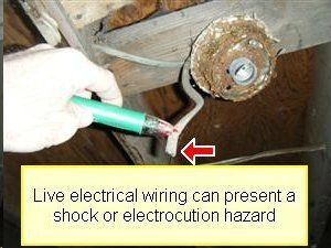 photo- live electrical wiring